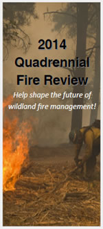 2014 Quadrennial Fire Review brochure cover.