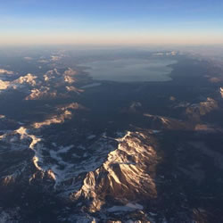 Aerial image of Lake Tahoe.