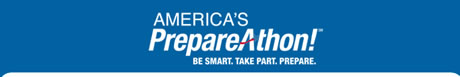 Banner: America's PrepareAthon. Be smart. Take Part. Prepare.