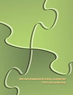 Cover of Western Regional Strategy Committee 2013 Year in Review